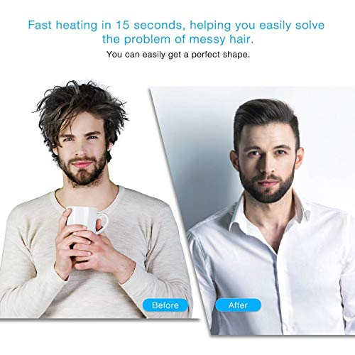 COBRA Hair Styler for Beard,Hair Comb,Hair Straightening Comb Multi functional For Men (Black)