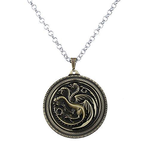 one inspiriert Targaryen Anhänger Kostüm Halskette-Antique Bronze (nl005378-2) (Vintage Kostüm Schmuck Etsy)