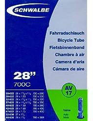 """SCHWALBE Fahrradschlauch AV17 mit Autoventil ~ 28"""" ~ 37-622 mm (28 x 1 3/8 x 1 5/8 Zoll) (28 x 1.40 Zoll)"""