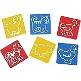 #10: AsianHobbyCrafts Plastic Stencils : Size 6