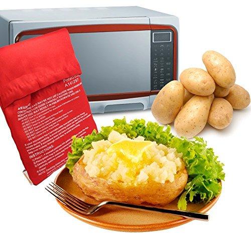 Kartoffel Mikrowelle Beutel Mikrowellenherd Kochtasche Kartoffel Tortillas Maiskolben Express Backen Werkzeug (Rot, 19 * 26 * 0)