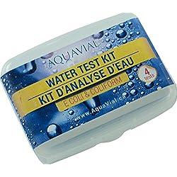 AquaVial Plus Wassertest, Schnelltest auf gefährliche Bakterien, Pilze, und Colibakterien für Teich, Pool, Aquarium, Leitungs- und Trinkwasser