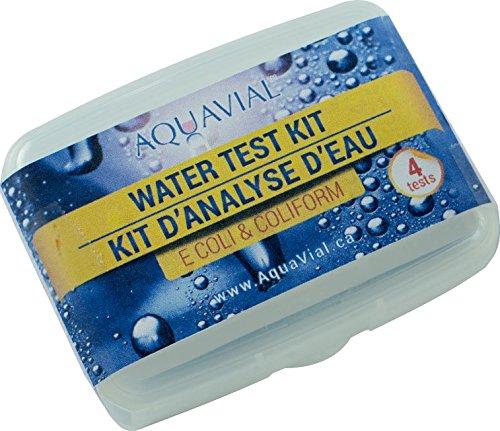 AquaVial Plus Wassertest, Schnelltest auf gefährliche Bakterien, Pilze, und Colibakterien für Teich, Pool, Aquarium, Leitungs- und Trinkwasser (Teich-wasser-test-kit)