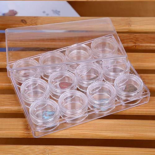 DEjasnyfall Jasnyfall Transparente Kontaktlinsenbehälter Behälter Trinkwasser Im Freien Reisehalter Kunststoff Aufbewahrungsbox Halten 12 stücke Objektiv (transparent)