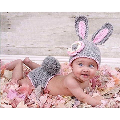 Lalawow Puntelli bambino Foto Neonata lavorato a maglia latte del bambino in cotone Travestimenti Costume Cute Bunny Suit