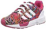 adidas Originals ZX Flux M19403, Mädchen Low-Top Sneaker, Mehrfarbig (Ftwr White/Ftwr White/Bold Pink), EU 22
