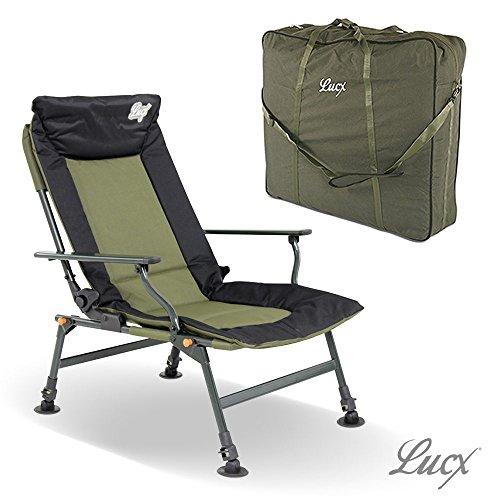 Lucx® Set / Angelstuhl Like a Sultan / Karpfenstuhl / Carp Chair + Chair Bag / Tragetasche / Transporttasche für Stuhl