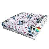 Feder Traumfänger Minky Babydecke Kuscheldecke Krabbeldecke Decke Super weich und flauschig Handarbeit (75x100cm, Schaf Herzen Grau)