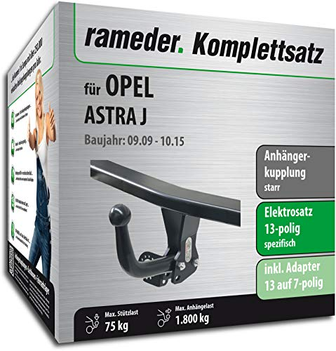 Rameder Komplettsatz, Anhängerkupplung starr + 13pol Elektrik für OPEL Astra J (116946-08261-1)