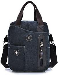 Outreo Vintage Messenger Bag Bolsos Bandolera para Hombre Bolso Casual Bolsas de Viaje Tela para Laptop Colegio Bolso Escolares Sport