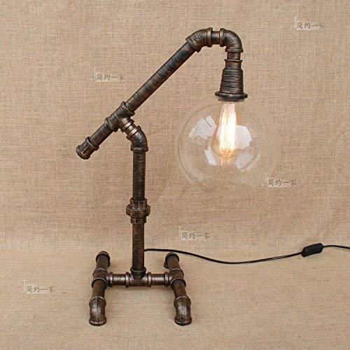 YLCJ Lámpara de mesa industrial Steampunk 1 Light E27 Etc agrave; de la máquina de modelado de perros Waterpipe Lámpara de mesa para muebles, dormitorio, sala de estar, hotel, cafetería