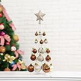 ZHUDJ Le Decorazioni di Natale Mini Albero di Natale Sfera Ferro Appeso Ball Mini Desktop È Decorata E Arredata in Marrone Scuro