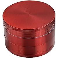 WINGONEER Premium in lega di zinco Grinder 4-parte H43mm Ø50mm (2.0 pollici) con il polline collettore Spice smerigliatrice / pianta Grinder / polline