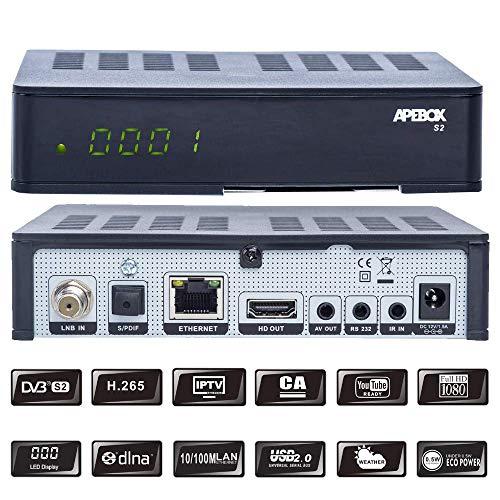 APEBOX S2 USB,CA,IPTV Receiver Tivu Sat geeignet,Sender vorinstalliert Astra+ Hotbird