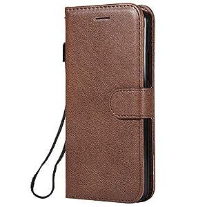 DENDICO Moto C Hülle, Leder Wallet Tasche Handyhülle mit Standfunktion und Kartenfach, Magnetverschluss Flip Etui TPU Schutzhülle für Moto C