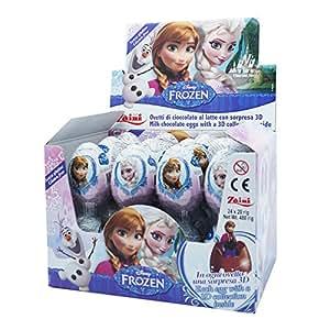 Disney Film chocolat congelé Surprise Oeufs, Zaini Ltd. [Boîte de 24]