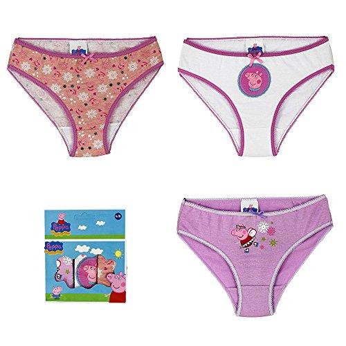 Peppa Pig 3 Packung mit Kinder-Unterwäsche unterweist 6-8 Jahre