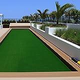 Tapis gazon artificiel casa pura® au mètre | moquette extérieure | nombreuses couleurs au choix | balcon, terrasse, jardin etc. | vert - 300x133cm