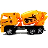 #8: Construction Vehicles, Assorted Trucks Mini Car Toy, Friction Powered Push & Play Engineering Vehicles for Age 3 Years and up Boys and Girls as Gift (Mixer Set of 1)