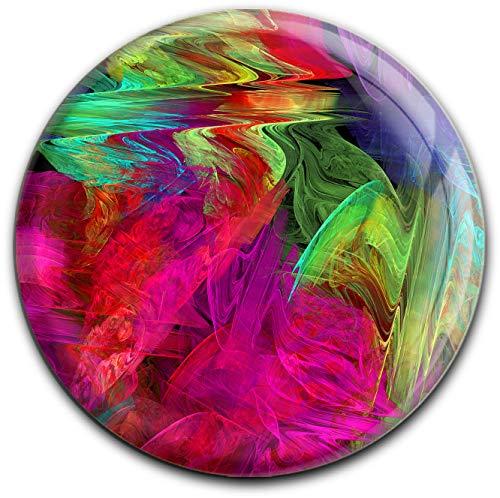 metALUm runder Acrylmagnet mit starkem Neodym - Magnet Fraktal - Muster #1301051