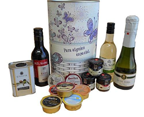 Lata regalo para mujer con productos gourmet
