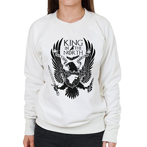 Game Of Thrones King In The North Women's Sweatshirt white