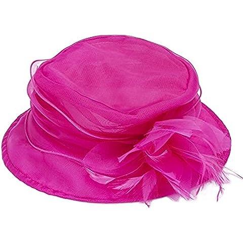 Janeojewels Formal Tocado Headwear gorro, mushroom-dish estilo, el sombrero de Elisabeth II, suave estructurado in organza-chiffon ala ancha y corsé. Diseño de boda, en beige, marfil, rosa, luz rosa