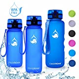 coolrhino Trinkflasche 1,5l für Sport, Outdoor, Schule, Fitness & Kinder - Wasserflasche auslaufsicher und Bpa frei - Flasche für Kohlensäure geeignet (Rhino Blue, 1500ml)