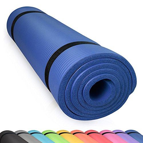 diMio Yogamatte Gymnastikmatte rutschfest mit Tragegurt, phlatatfrei + SGS-geprüft, 185x90x1.5cm Tiefblau