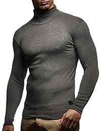 Herren Rollkragenpullover Pullover Rollkragen Hoodie T-Shirt Slim Fit; Größe L, Anthrazit