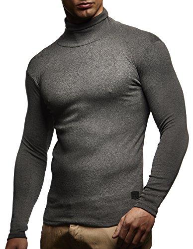 Herren Rollkragenpullover Pullover Rollkragen Hoodie T-Shirt Slim Fit; Grš§e M, Anthrazit
