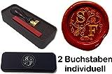 Siegelset in Geschenkdose Illuminata | 24 mm |2 Initialen | Eine tolle Geschenkidee um etwas persönliches zu schenken