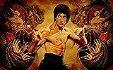 Bruce Lee (38x24 inch, 96x60 cm) Silk Poster Affiche de la Soie PJ19-A404