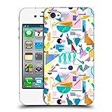 Head Case Designs Offizielle Ninola Collage Pop Weiss Geometrisch Ruckseite Hülle für iPhone 4 / iPhone 4S