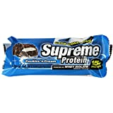 Supreme Protein 45 g Cookies and Cream Whey Protein Snack Bars - Box of 9
