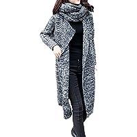 Abrigos de otoño Invierno, Dragon868 Moda de Gran tamaño Suelto suéter de Punto Cardigan Bufanda
