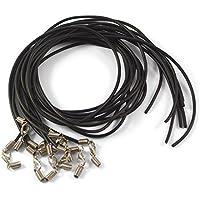 ❤️ 10 x Halskette, Halsband aus Kautschuk Set ohne Anhänger | Schmuckband, Kautschukband, Choker, Ketten selber machen/basteln | Schwarz | Damen/Herren Kautschukkette silberner Karabiner-Verschluss