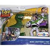 Toy Story Double Pack - BUZZ LIGHTYEAR & REX 4 Figures by Mattel