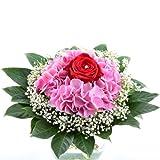 Blumenversand - Blumenstrauß - Geburtstag - Lovely Rose - Hortensie und rote Rose mit Gratis - Grußkarte zum Geburtstag versenden