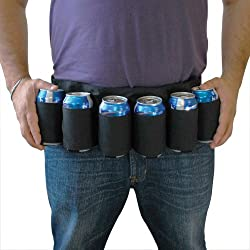 Bigmouth Inc. Beer Belt Holster (Black)