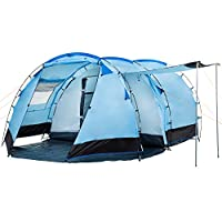 CampFeuer - Tunnel Tent Family Tent 3000 mm water column - Blue/Black 24
