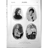Cugini Antichi della Stampa dalla Fotografia Ellerbeck Co Claremont 1898 della Colonia del Capo - Antichi Da Collezione Delle Fotografie