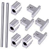 2St. 8mm 400mm Linearwelle Stangenschienen Kit mit Lagerblock für 3D Drucker CNC Maschine