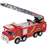 Slolvedi Electric Fire Truck Water Spray Fire Engine Car Toy Kids Educational Gift