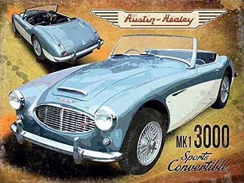 Enseigne Métal Austin-Healey MK1 3000 Sports Convertible (og 2015)