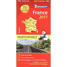 Carte France Indéchirable Michelin 2017