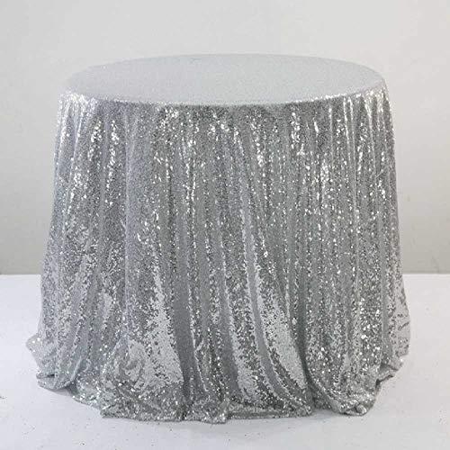 SHUIZAI Tablecloth Glänzende Sequin Gold Round Table Cover Wedding Round for Event Hotel Bankett Hochzeiten Tischdekoration Zettel Royal Blue Round Table Cover