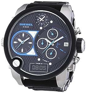 Diesel - DZ7278 - Montre Homme - Quartz Chronographe - Bracelet Silicone Noir