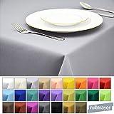 Rollmayer Tischdecke Tischtuch Tischläufer Tischwäsche Gastronomie Kollektion Vivid (Silbergrau 31, 140x300cm) Uni einfarbig pflegeleicht waschbar 40 Farben