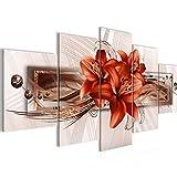 Bilder Blumen Lilien Wandbild Vlies - Leinwand Bild XXL Format Wandbilder Wohnung Deko Kunstdrucke - MADE IN GERMANY - Fertig zum Aufhängen 008753b